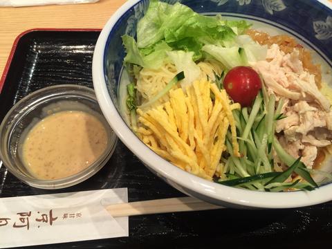 京阿月さんの若どり冷麺(麺大盛り)