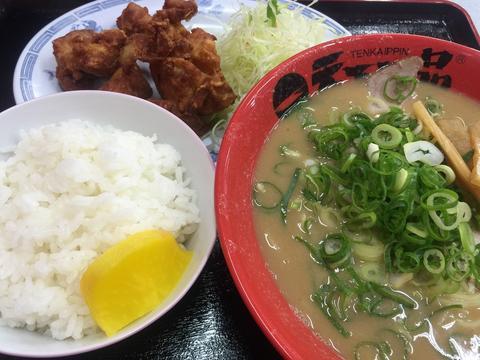 2015/08/14 天下一品の唐揚げ定食とサーティワンのスモールダブル