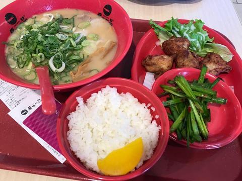 2016/09/22 天下一品 イオンモール草津店 唐揚げ定食ネギ多め