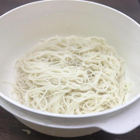レンチンで素麺