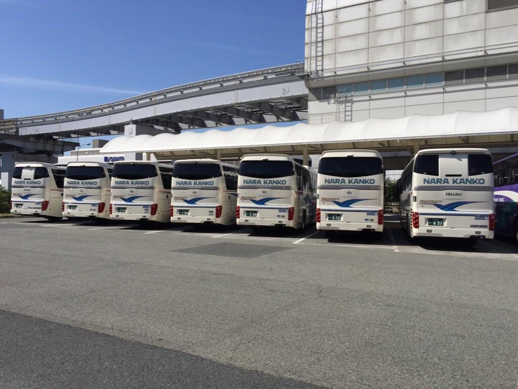 20150511-伊丹空港の団体バス駐車場